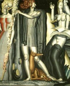 Jean Dupas, Art- Deco, French painter. 1882-1964.