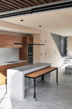 Little O& Residence By Ha Architecture Local Australian Design And Interiors Albert Park,vic Image 4 Kitchen Furniture, Kitchen Decor, Furniture Design, Nice Kitchen, Küchen Design, House Design, Studio Design, Design Ideas, Modern Pools