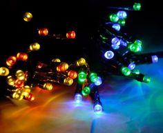 MT TECH Solar Powered 100 LED String Fairy Lights For Outdoor Patio Garden Lawn Christmas tree Party WeddingMulti Color