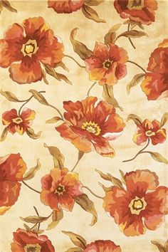 KAS Oriental Catalina Poppies Rugs | Rugs Direct
