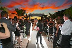 An Outdoor Wedding Ceremony at Lombardi's on the Bay.