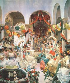 Artist: Joaquin Sorolla - all paintings from this artist available as fine art prints, canvas prints, paper prints or hand painted oils. Oil On Canvas, Canvas Prints, Spanish Painters, Norman Rockwell, Seville, Figurative Art, Valencia, Art Inspo, Giclee Print