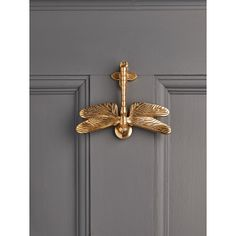 NEW Solid Brass Dragonfly Door Knocker - Decorative Outdoors - Outdoor Garden Accessories - Outdoor Living Looking forward to Ainz and I hosting Friday night dinners at Grey House/Gray House! Design Blog, Home Design, Interior Design, Design Art, Modern Design, Design Ideas, Door Knockers Unique, Brass Door Knocker, Unique Doors