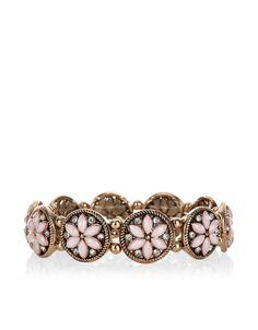 Geranium Stretch Bracelet | Pink | Accessorize