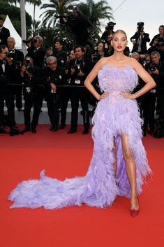 """Elsa Hosk Photos - Elsa Hosk attends the screening of """"Sibyl"""" during the annual Cannes Film Festival on May 2019 in Cannes, France. - 'Sibyl' Red Carpet - The Annual Cannes Film Festival Elsa Hosk, Chloe Sevigny, Vogue, Nice Dresses, Prom Dresses, Formal Dresses, Bruna Marquezini, High Low Gown, Met Gala Red Carpet"""