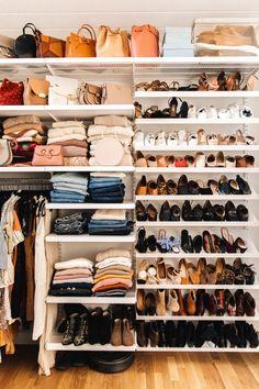 His and hers master closet design, closet organization Closet Bedroom, Closet Space, Walk In Closet, Wardrobe Closet, Closet Clothing, Open Wardrobe, Diy Master Closet, Teen Closet, Clothing Racks