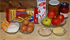 Prăjitură rapidă din pișcoturi și mere – Vicky's Recipes Jacque Pepin, Food Tasting, Caramel, Fruit, Recipes, Album, Sweets, Sticky Toffee, Candy