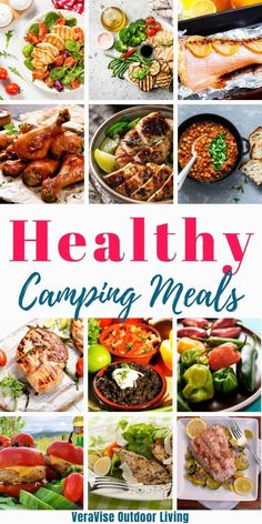 Eating healthy while camping isn't as hard as you may think. As is true with any attempt to eat healthy, whether camping or not, it takes a little bit of planning, but it can be done. Camping Lunches, Camping Dishes, Lunches And Dinners, Campfire Food, Campfire Recipes, Grilled Turkey Burgers, Fire Cooking, Group Meals, Camping Guide
