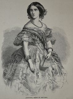 Stephanie, Queen of Portugal - Illustrated News 1858
