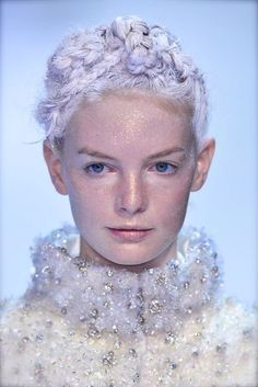 Glitter face snow queen