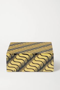Smythson Marquetry Wood Box In Yellow Smythson, Marquetry, Wood Boxes, Black Wood, Wood Print, Graphic Prints, Yellow, Dressing Table, Crafts