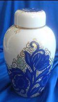 Vase with lid. Marked on base: Rosari E. Vases, Jar, Design, Home Decor, Decoration Home, Room Decor, Home Interior Design, Vase, Glass