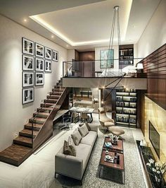 Small Homes That Use Lofts To Gain More Floor Space - Traumhaus Loft Design, Design Case, Modern House Design, Design Design, Loft Stil, Lofts, Small Living Rooms, Condo Living, Tiny Living