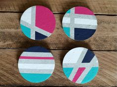 Concrete coasters set of 4 by StoneAndTreeCo on Etsy