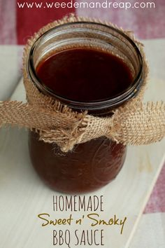 Recipe: Homemade Sweet n' Smoky BBQ Sauce - Weed'em & Reap