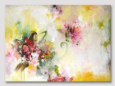 Original extra große abstrakte Malerei kräftige von ARTbyKirsten