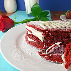 """Red Velvet Pancakes with Cream Cheese Frosting """"Syrup""""...these sound delicious."""