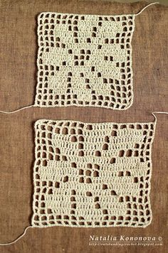 Outstanding Crochet: Filet crochet. Don't get frustrated. - How to get your filet crochet to be SQUARE!
