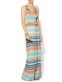 Sunday Style: Maxi Dresses. Item: Michael Stars Exclusive Happy Stripe Highline Maxi Dress Retailer: Piperlime Full Price: $118 (Of course I like this one the best.  Shocking, right?)