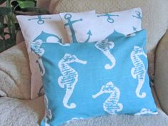Beach Inspired Decor Anchor Pillow Covers by asmushomeinteriors, $55.90