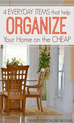 There's no need to spend lots of money organizing your home! Save money and use these everyday items that you already have to organize your home on the cheap!