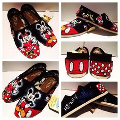 Disney Toms by all4theloveofshoes on Etsy, $100.00
