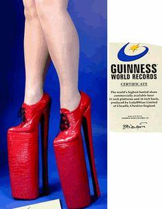 b8d54867a46d Highest heels on record Crazy High Heels, Crazy Shoes, Weird Shoes, Me Too