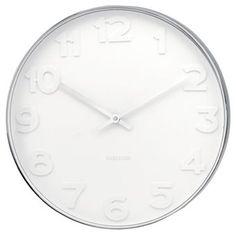 De Karlsson klok Mr. White Numbers steel polished is een fraaie design wandklok van Karlsson. Deze Karlsson klok is in twee maten verkrijgbaar.