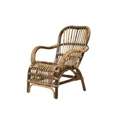 Barnstol rotting ARMCHAIR MINI, ByON - Solhem Inredning Outdoor Chairs, Outdoor Furniture, Outdoor Decor, Home Living, Wicker, Armchair, Mini, Design, Home Decor