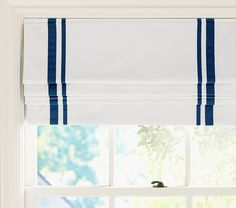 Pottery Barn Kids' roman shades feature a cordless design. Find window treatments and roman shades and give the room a boost of personality and style. Blackout Roman Shades, Diy Roman Shades, Custom Roman Shades, Modern Roman Shades, Blackout Blinds, Blinds For Windows, Curtains With Blinds, Bedroom Curtains, Window Blinds