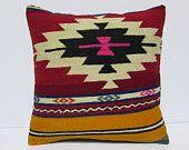 20x20 kilim pillow mediterranean throw pillow sofa 20x20 pillow boho pillow sham primitive decor pillow oversized couch pillow cover 29879