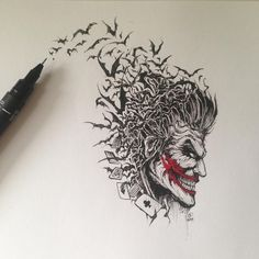 "19.9k Likes, 524 Comments - K E R B Y   R O S A N E S (@kerbyrosanes) on Instagram: ""Found this Joker drawing from last year while clearing some space on my desk today.  This was done…"""