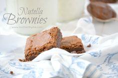 Nutella Brownies   www.motherthyme.com