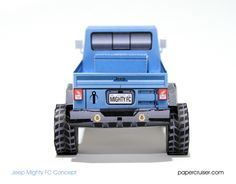Jeep Mighty FC paper model | papercruiser.com