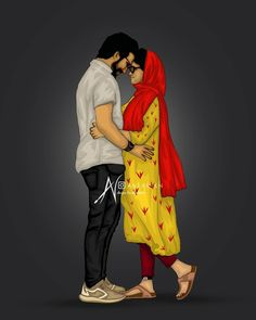 Love Cartoon Couple, Cartoon Girl Images, Cute Couple Art, Cute Love Cartoons, Cartoon Pics, Girl Cartoon, Cute Muslim Couples, Cute Anime Couples, Best Naruto Wallpapers
