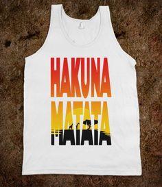 Hakuna Matata (Tank) - Moviemoviesmovies - Skreened T-shirts, Organic Shirts, Hoodies, Kids Tees, Baby One-Pieces and Tote Bags