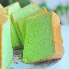 Pandan cake - the yummiest thing ever!