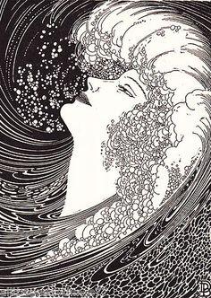 Don Blanding Art Deco Silhouette Ocean Siren Voice Vintage 1937 Matted Picture   eBay
