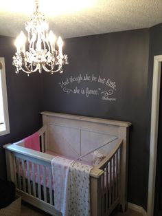 And though she be but little she is fierce Shakespeare wall decal nursery decal 23 x 9 wall decal. Black will be the default color. Convo me for other