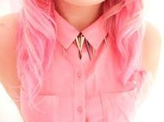 pink top and light pink hair