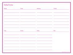 Weekly Priorities {Free Printable}