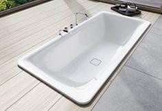 Kaldewei Incava Built In Bath. The Incava built in bath defines itself by its organically flowing interior sensually soft corner radius Built In Bath, Small Spa, Stone Bath, Timber Panelling, High Walls, Villeroy, Home Upgrades, Bathroom Essentials, Home Spa