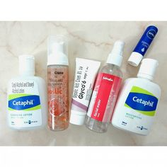 30/12/2015  1st cleanse: Cetaphil.  2nd cleanse: Cipla Saslic. (pH 5.5) Treatment: Glyco 6.  Mist: Fabindia Rosewater.  Moisturize: Cetaphil.  Lip balm: Nivea.  #skincare #cetaphil #gentleskincleanser #doublecleansing #glycolicacid #salicylicacid #acne #treatment #skincareroutine #lowph #rosewater #fabindia #nivea #lipbalm  #bblogger #bbloggers #indianbeautyblogger #indianblogger #indianbeautyblog #freihawrites