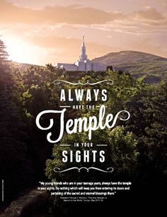 "LDS Mormon Temple - ""Always keep the temple in your sights."" -President Thomas S. Monson #lds"