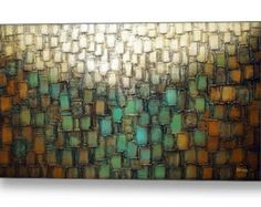 Giclee PRINT on Canvas Large Abstract Art by ModernHouseArt