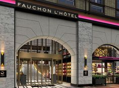 FAUCHON meets Kyoto in a marriage of the iconic French brand with the traditional design and cultural elements of Japan, achieved by Spin Design Studio of Japan together with Atelier Paluel-Marmont in Paris. The new property is a blend of style featuring magenta, black, and gold with a nod to its Japanese location. New Property, French Brands, Kyoto Japan, Traditional Design, Spin, Magenta, Marriage, Japanese, Paris