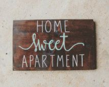 Wood Signs, Apartment Decor - Home Sweet Apartment