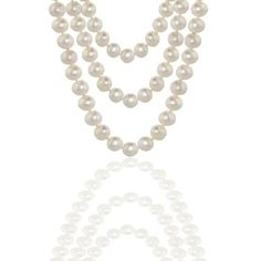 Bling Jewelry Bridal Triple Strands 7mm White Freshwater Pearl Necklace 20in
