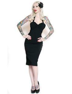 Ruthless Halter Dress (Black)