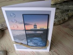 Lighthouse Card Male Greeting Card Happy by 4SeasonCards on Etsy, €8.00